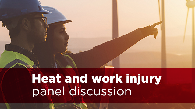 A still frame from the video Heat and work injury panel discussion