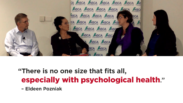 A still frame from the video Beyond the spin: practical steps to integrate mental health in Australian workplaces