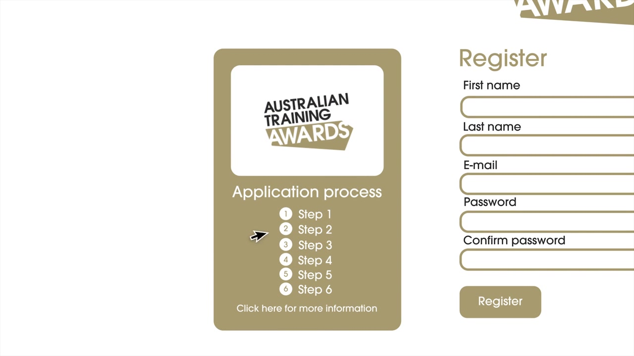 A still frame from the video Australian Training Awards - How To Apply - Business with animation
