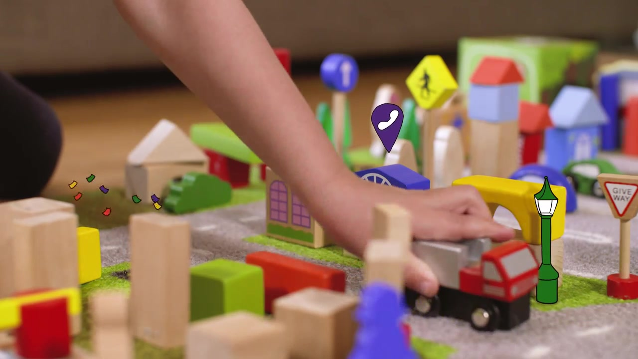 A still frame from the video Childcare Finder Video