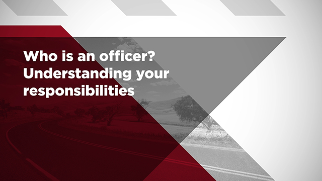 A still frame from the video SWA - Who is an officer? Understanding your responsibilities
