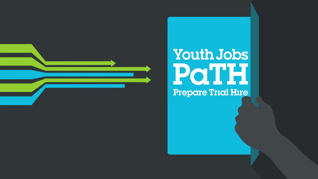 A still frame from the video Youth Jobs PaTH - Prepare Trial Hire