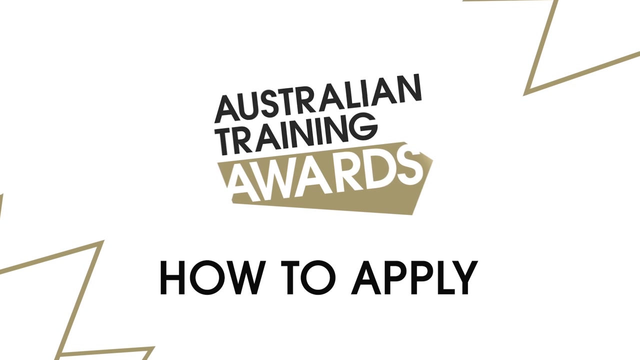 A still frame from the video Australian Training Awards - How To Apply - Individual