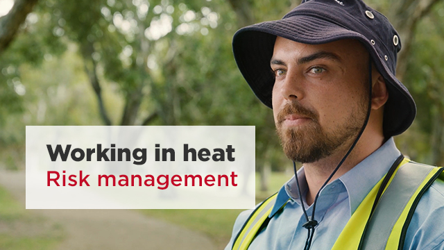 A still frame from the video SWA - Working in heat: Risk management