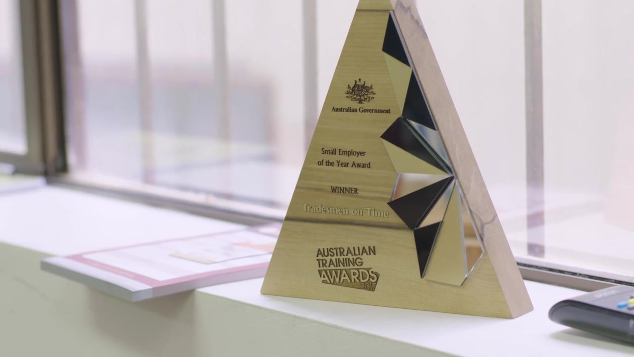A still frame from the video Australian Training Awards - How To Apply - Business