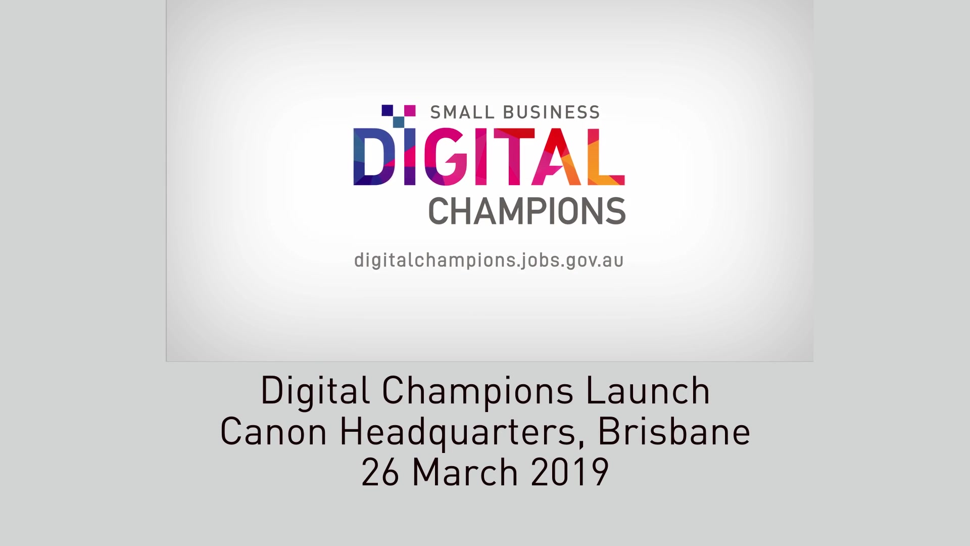 Watch Digital Champions Launch